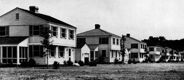 Married officers quarters camp lejeune north carolina circa 1945