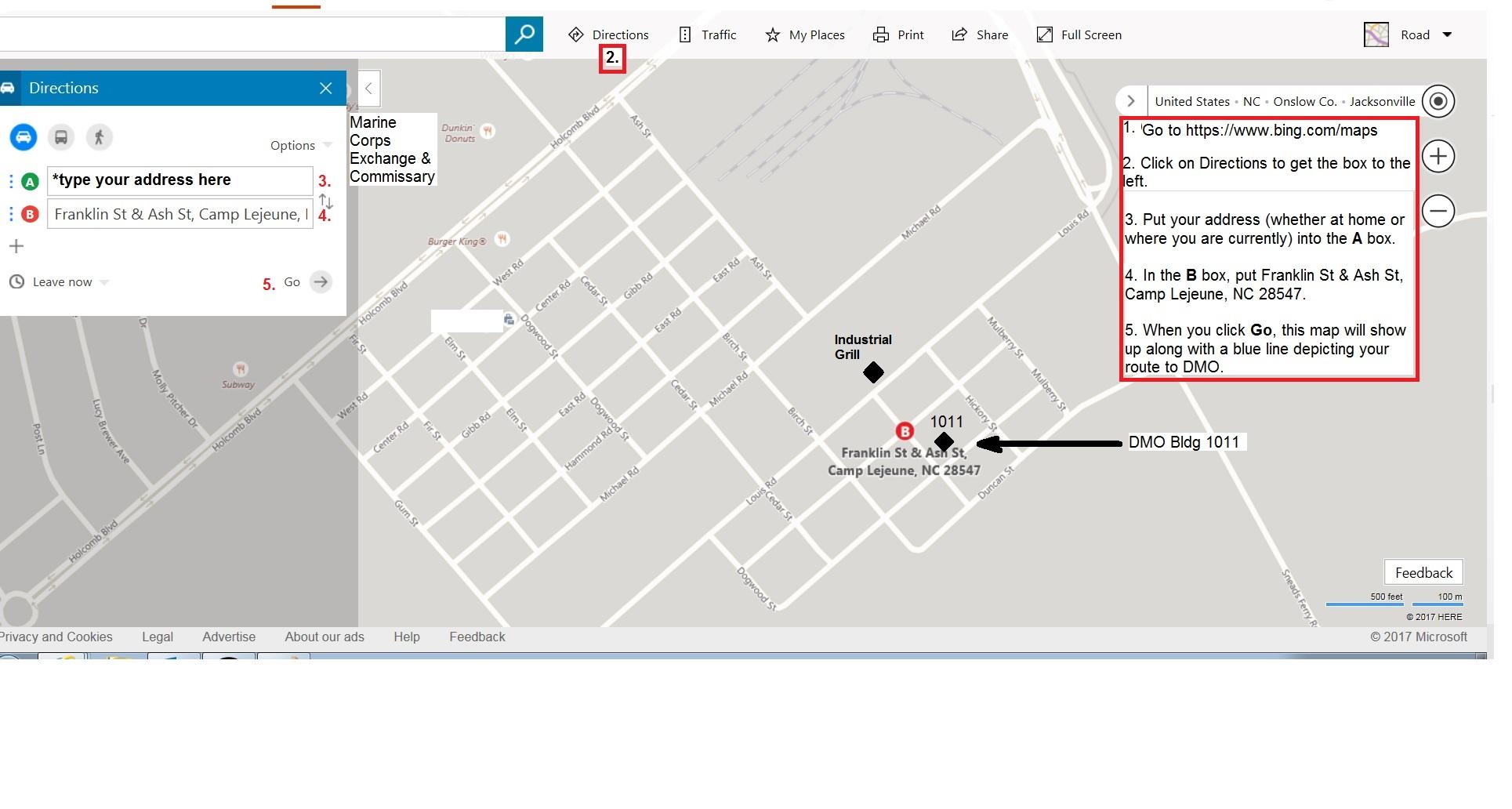 PCS Travel on map camp lejeune 1 edition, map of camp johnson nc, camp geiger nc, map of camp geiger marine base,