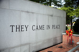 A photograph of a portion of the Beirut Memorial.