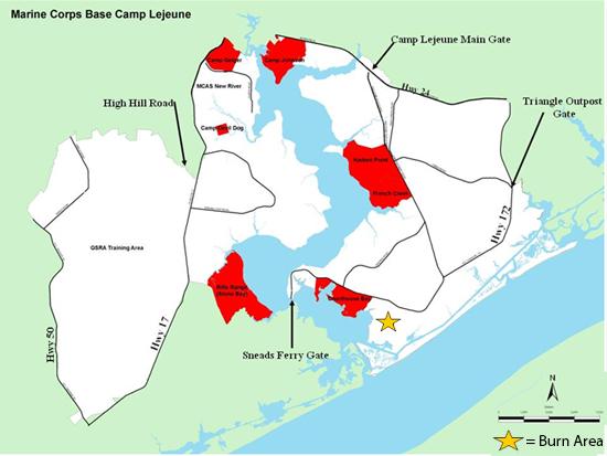 Marine Corps Base Camp Lejeune Unit Home Prescribed Burn Notice