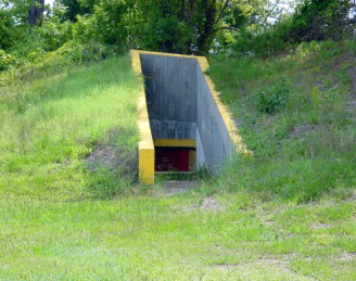 Berm and Tunnel at the Rifle Range