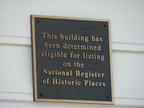 Plaque placed on historic buildings
