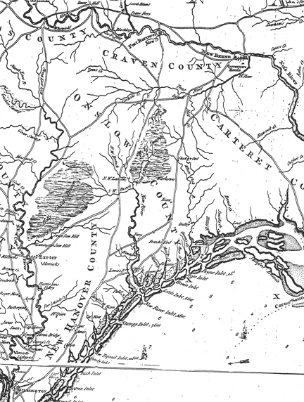 Detail of a 1794 map