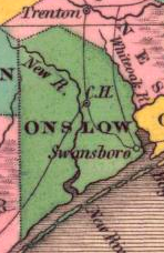 1824 map of Onslow County
