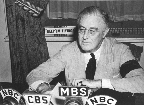 FDR giving a radio address