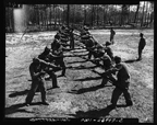Practice in bayonet drills prepared recruits for engaging the enemy in close quarters, March 1943.