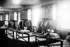 The sleeping quarters of the Marine Corps Women's Reserve barracks at Camp Lejeune, North Carolina, circa 1944. Nina Johnson Wiglesworth Papers Collection (WV0132.6.003), Betty H. Carter Women Veterans Historical Project, University of North Carolina at Greensboro, NC.