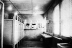 The bathroom of the Women's Reserve barracks at Camp Lejeune, North Carolina, circa 1944. - Nina Johnson Wiglesworth Papers Collection (WV0132.6.004), Betty H. Carter Women Veterans Historical Project, University of North Carolina at Greensboro, NC