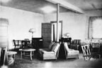 The lounge of the Women's Reserve barracks at Camp Lejeune, North Carolina, circa 1944.