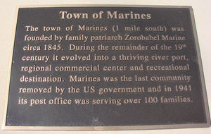 CHB Entrance Town of Marines Marker