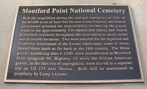Montford Point National Cemetery Marker