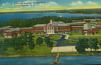 Historic postcard featuring the US Naval Hospital at Marine Corps Base Camp Lejeune (US Marine Corps Archives)
