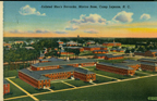 Historic postcard featuring the Enlisted Men's Barracks at Marine Corps Base Camp Lejeune (US Marine Corps Archives)