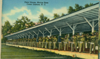 Historic postcard featuring the Pistol Range at Marine Corps Base Camp Lejeune (US Marine Corps Archives)